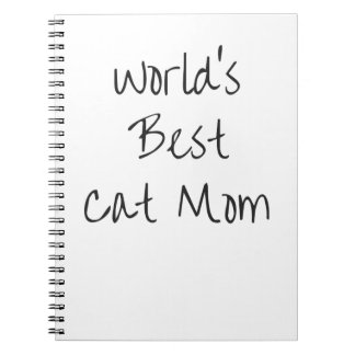 World's Best Cat Mom - Black Notebooks