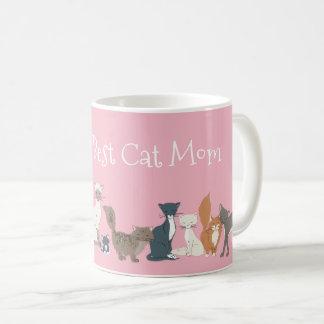 World's Best Cat Mom Cat Dad Rescue Mom Cat Breeds Coffee Mug
