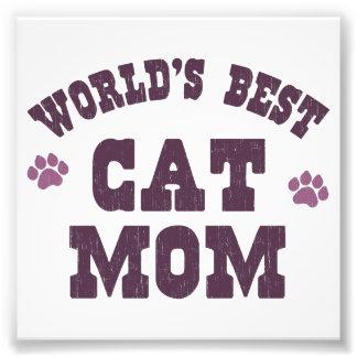 World's Best Cat Mom Photo Print