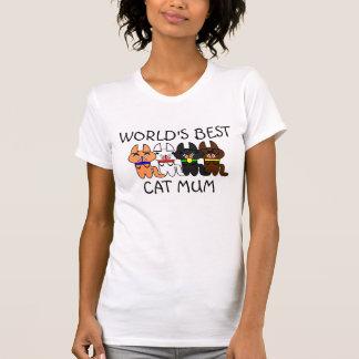 World's Best Cat Mum Tee-shirts