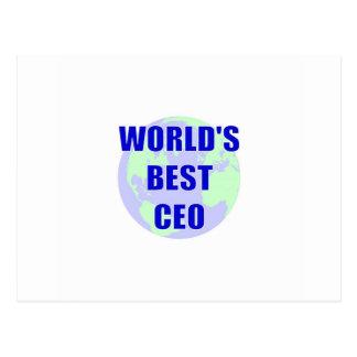 World's Best CEO Postcard