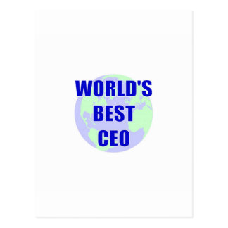 World's Best CEO Postcard