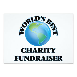 World's Best Charity Fundraiser Personalized Invitation Cards