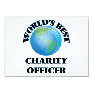 World's Best Charity Officer Announcement Cards