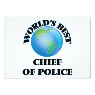 World's Best Chief Of Police Personalized Invitation