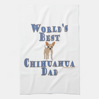 World's Best Chihuahua Dad Tea Towel