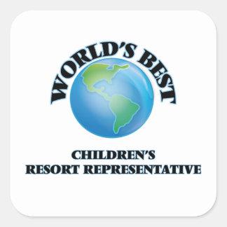 World's Best Children's Resort Representative Square Stickers