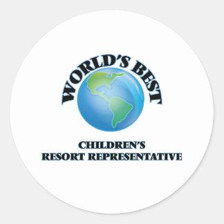 World's Best Children's Resort Representative Round Sticker