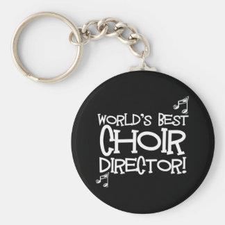 World's Best Choir Director Basic Round Button Key Ring