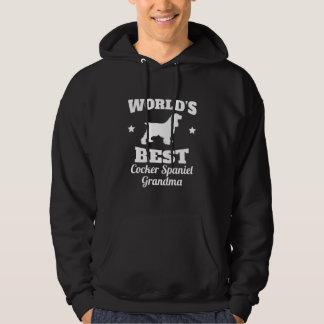 Worlds Best Cocker Spaniel Grandma Hoodie
