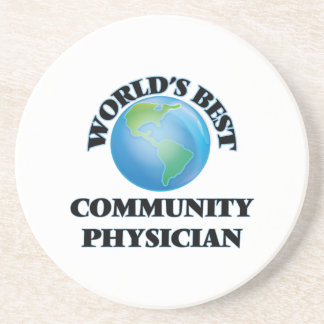 World's Best Community Physician Drink Coaster