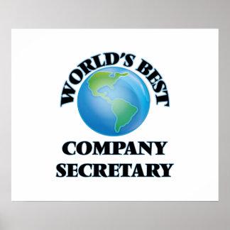 World's Best Company Secretary Posters