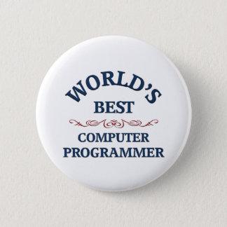 World's best Computer Programmer 6 Cm Round Badge