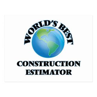 World's Best Construction Estimator Post Card