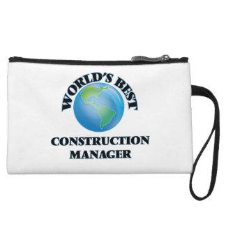 World's Best Construction Manager Wristlet Clutch