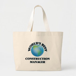 World's Best Construction Manager Tote Bag