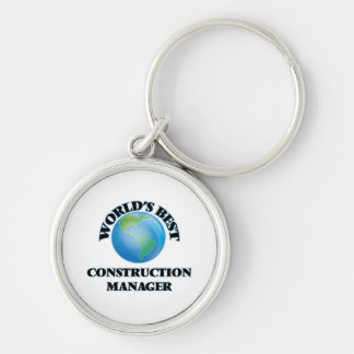 World's Best Construction Manager Key Chains