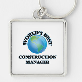 World's Best Construction Manager Key Chain