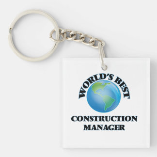 World's Best Construction Manager Acrylic Keychain