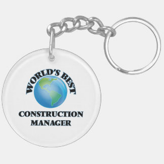 World's Best Construction Manager Keychain