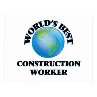 World's Best Construction Worker Post Card