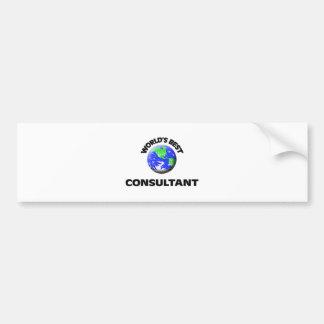 World's Best Consultant Car Bumper Sticker