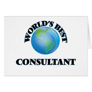 World's Best Consultant Card