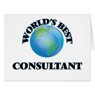 World's Best Consultant Greeting Cards
