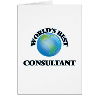 World's Best Consultant Greeting Card