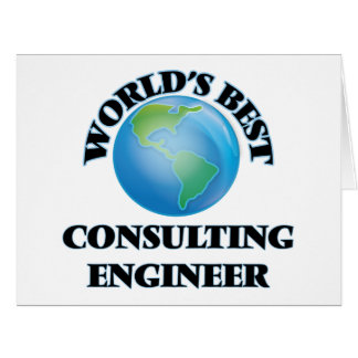 World's Best Consulting Engineer Card