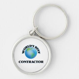 World's Best Contractor Keychains