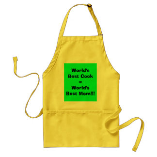 World's Best Cook=World's Best Mom!!! Adult Apron