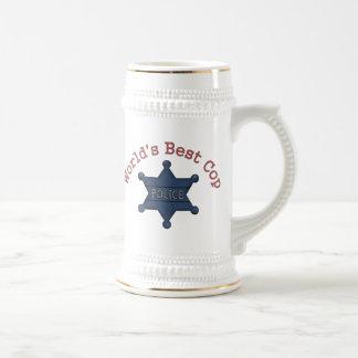 Worlds Best Cop Beer Stein