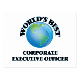 World's Best Corporate Executive Officer Post Cards