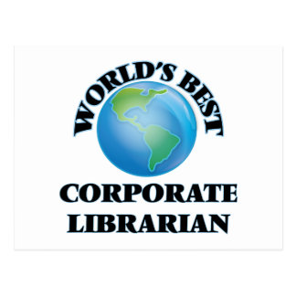 World's Best Corporate Librarian Postcard