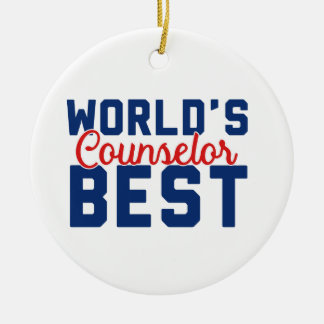 World's Best Counselor Ceramic Ornament