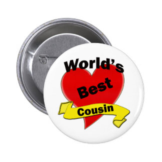 World's Best Cousin 6 Cm Round Badge