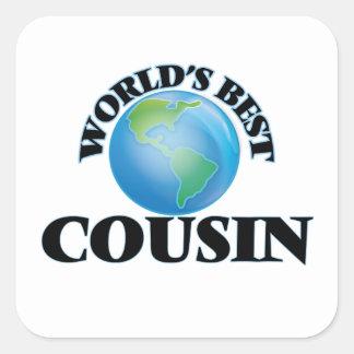 World's Best Cousin Square Sticker