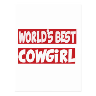 World's Best Cowgirl. Post Cards