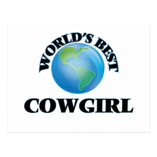 World's Best Cowgirl Post Cards
