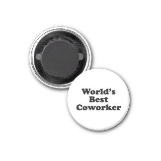 World's Best Coworker 3 Cm Round Magnet