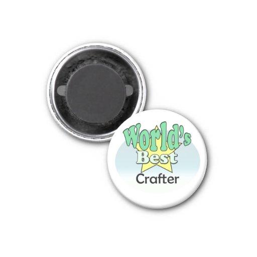 World's best Crafter Refrigerator Magnet