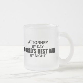 World's Best Dad by Night - Attorney Frosted Glass Coffee Mug