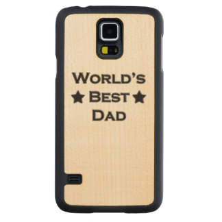 World's Best Dad Carved Maple Galaxy S5 Case