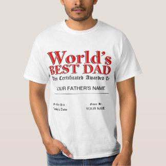 World's Best Dad Certificate T-Shirt