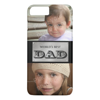 World's Best Dad - Custom 2 photos iPhone 8 Plus/7 Plus Case
