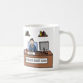 World's Best Dad- custom cartoon mug