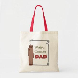 World's Best Dad Golfing Tote Bag