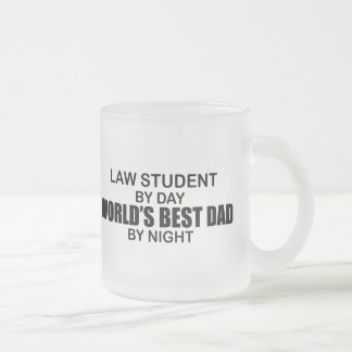 World's Best Dad - Law Student Frosted Glass Mug
