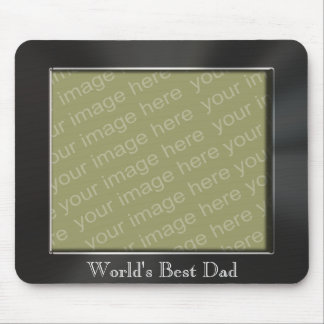 World's Best Dad Metal Look Photo Frame Mousepad
